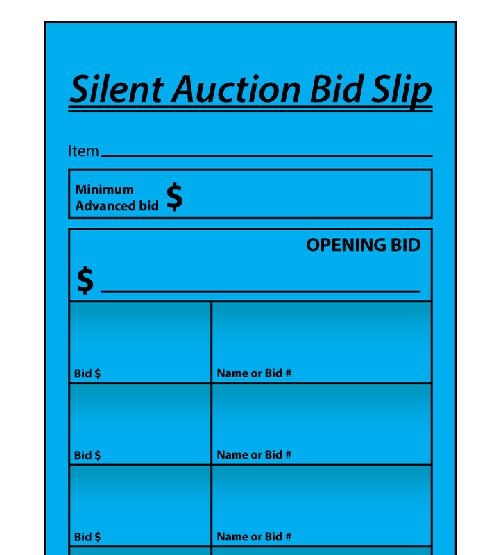 Buy Auction Bid Slips