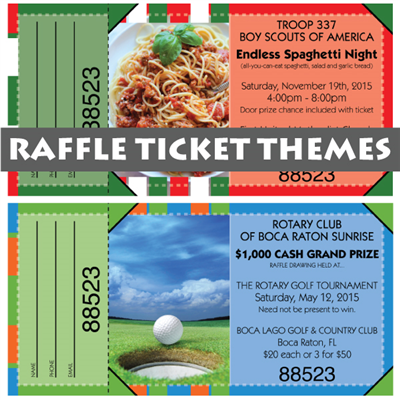 Full Color Raffle Tickets