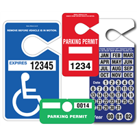 Parking Hang Tags