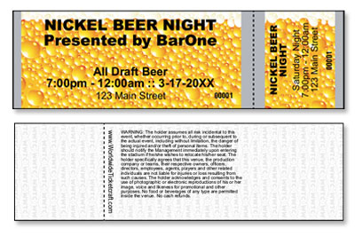 Beer Tickets - General Admission - Horizontal