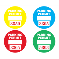Parking Permit Stickers - Circle Decal