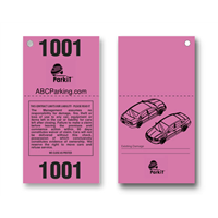 Design It Yourself 2 Part Valet Tickets
