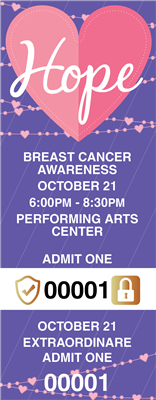 Breast Cancer Awareness Tickets with Security Features