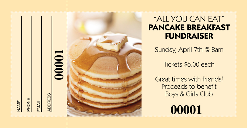 Pancake breakfast raffle tickets maxwellsz