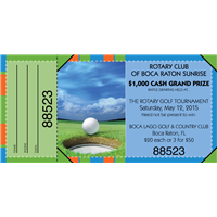Golf Fundraiser Raffle Tickets