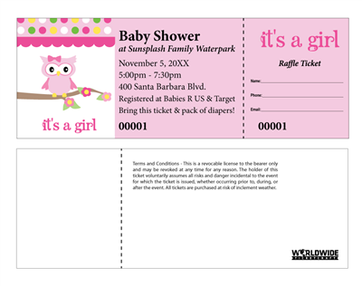 Baby Girl Raffle Tickets