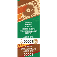 Hip Hop Dance Tickets with Security Features