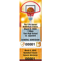 Basketball Tickets with Security Features