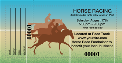 Horse Racing Raffle Tickets