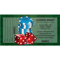 Casino Night Raffle Tickets