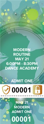 Modern Dance Tickets with Security Features