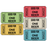 Beer Redemption Roll Tickets