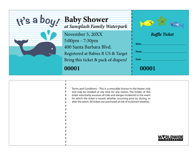Baby Boy Raffle Tickets
