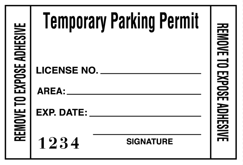 image regarding Printable Parking Pass identify Acquire non permanent parking allow windshield stickers