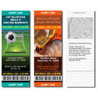 Design It Yourself Invitation Tickets