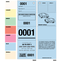 DIY 4 Part Valet Tickets