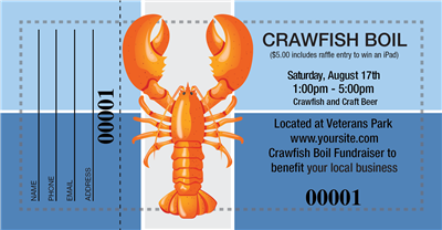 Crawfish Boil Raffle Tickets