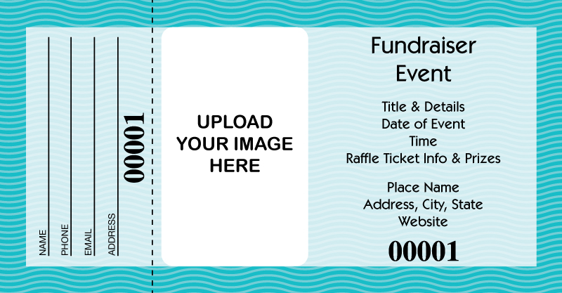 buy large custom printed raffle tickets