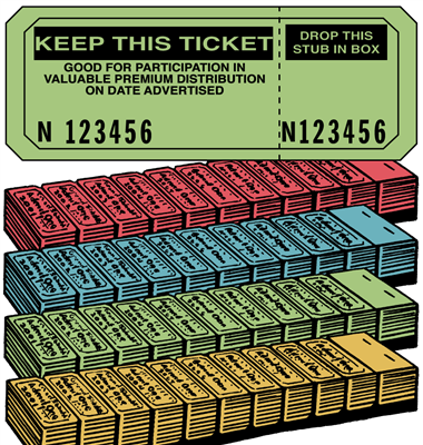 Raffle Ticket Strip Book - Keep This Coupon
