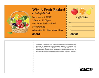 Fruit Basket Raffle Tickets