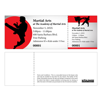Martial Arts Tickets