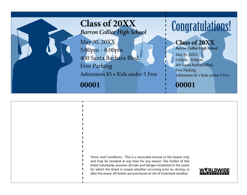 order tickets for graduation ceremony