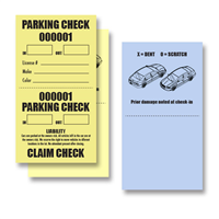 2 Part Valet Parking Claim Check