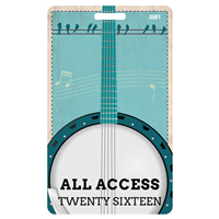 Bluegrass Plastic Badge