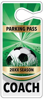 Soccer Parking Hang Tags