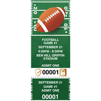 Football Tickets with Security Features