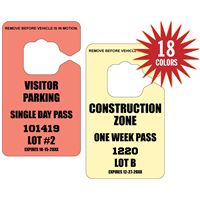 "DIY Parking Permits - 2.75"" x 4.75"" - Temporary Tags"