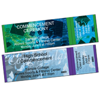 DIY Commencement Tickets - Horizontal