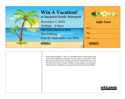 Vacation Raffle Tickets