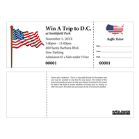 Patriotic Raffle Tickets