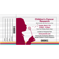 Childrens Cancer Raffle Tickets
