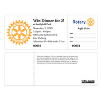 Rotary Raffle Tickets