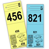 4 Part Valet Parking Ticket B