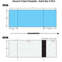 Thermal Ticket Stock - Solid Bar, 2 Perfs