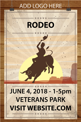 Design It Yourself 12 X 18 Rodeo Posters