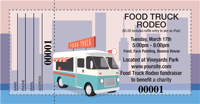 Food Truck Raffle Tickets