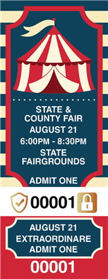 Fair Tickets with Security Features