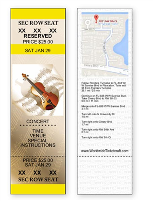 DIY Concert Tickets - Reserved Seating
