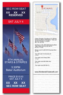 Design It Yourself RSVD 4th of July Tickets