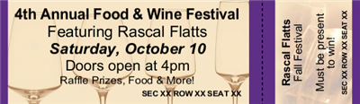 Food & Wine Reserved Seating Tickets - Horizontal