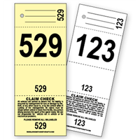 4 Part Valet Parking Ticket E