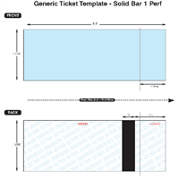Thermal Ticket Stock - Solid Bar, 1 Perf
