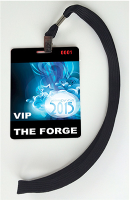 New Year's Eve Badges with Lanyards