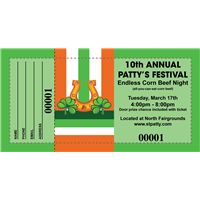 St Patrick's Day Raffle Tickets