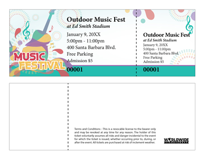 Outdoor Music Festival Tickets