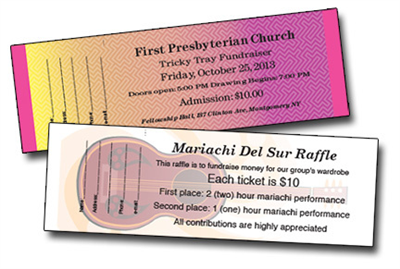 Design It Yourself Full Color Raffle Tickets